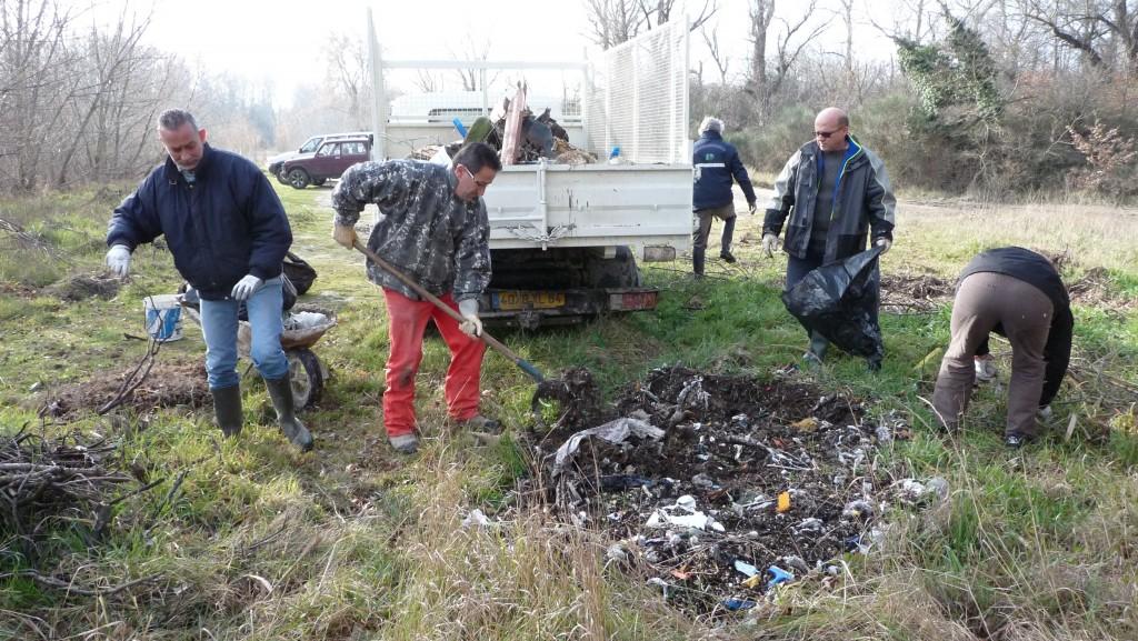 Landiran : les chasseurs nettoient les bois