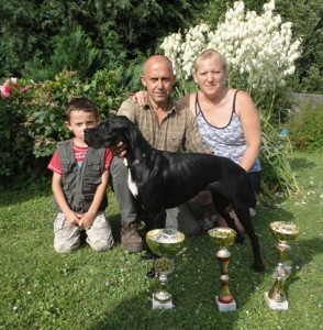 Philippe Dupas, sa famille et son pointer