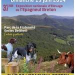 Affiche concernant la 37è exposition nationale d'Elevage de l'Epagneul Breton