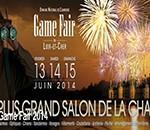 Le Gamefair 2014 se tiendra à Chambord du 13 au 15 juin