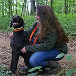 Amélie Péria et son chien Izaac
