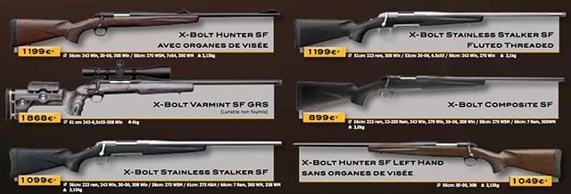 carabines à verrou de chasse Browning