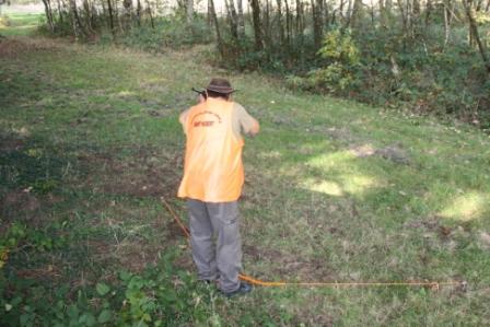Le kit d'angle Securitir utilisé par un chasseur