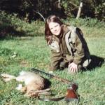 Mélanie Bonnefoy à la chasse