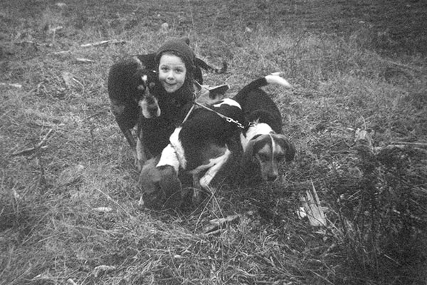 Mélanie Bonnefoy très jeune chasseresse
