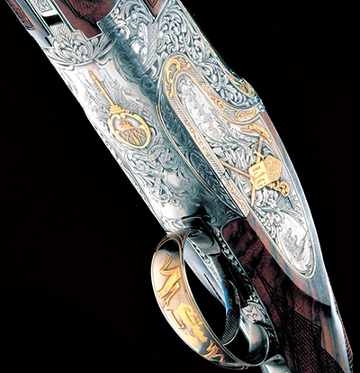 Gravures sur un fusil Browning