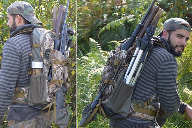 En action avec le sac Pioneer by Vanguard sur le dos