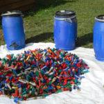 Les chasseurs collectent les cartouches tirées pour les recycler